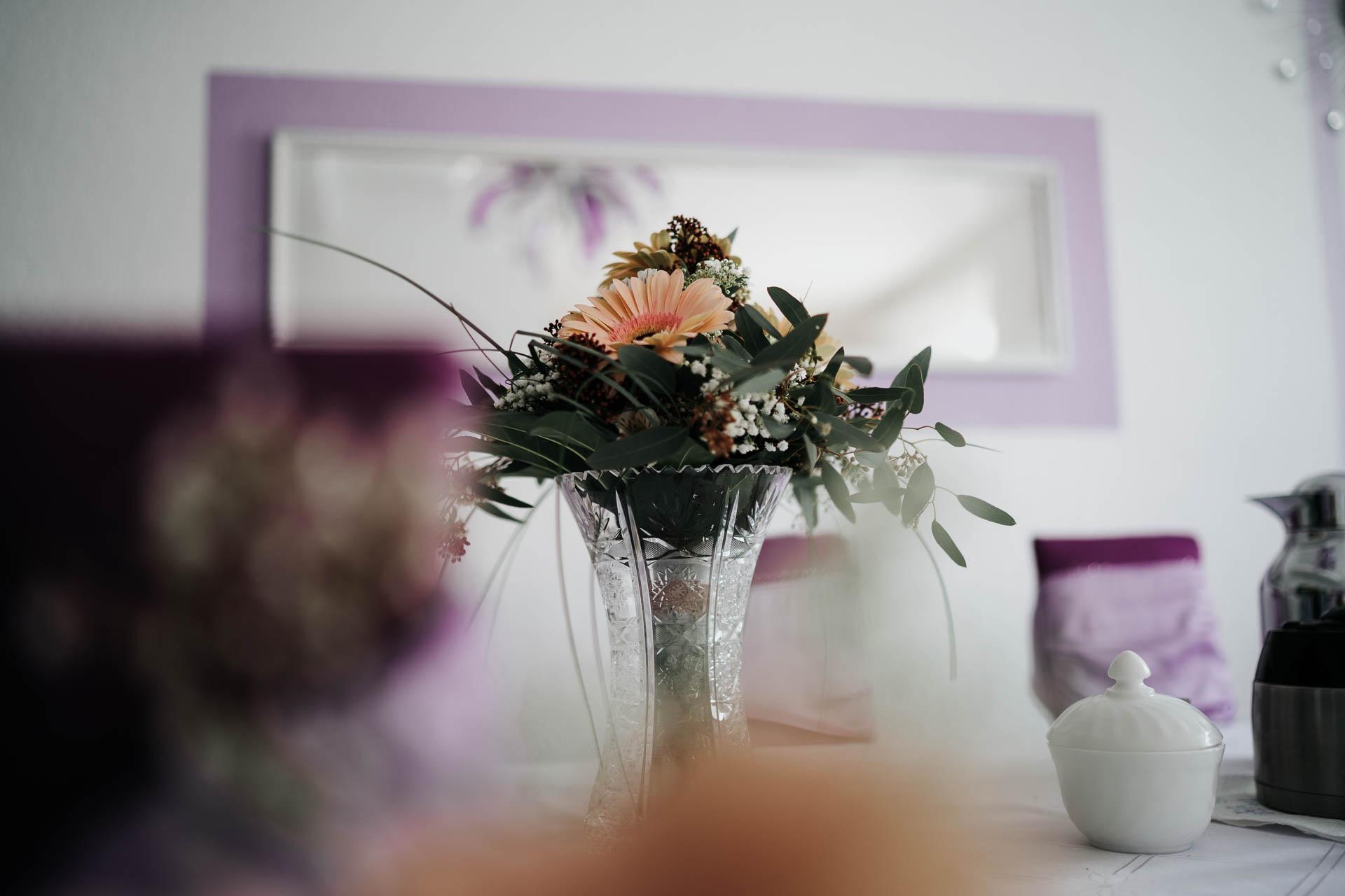 Brautstrauß Tisch