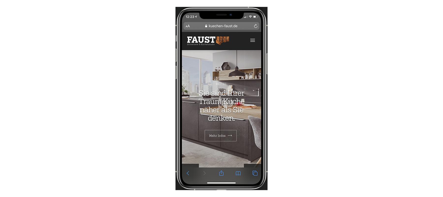 Schreinerei Faust iPhone