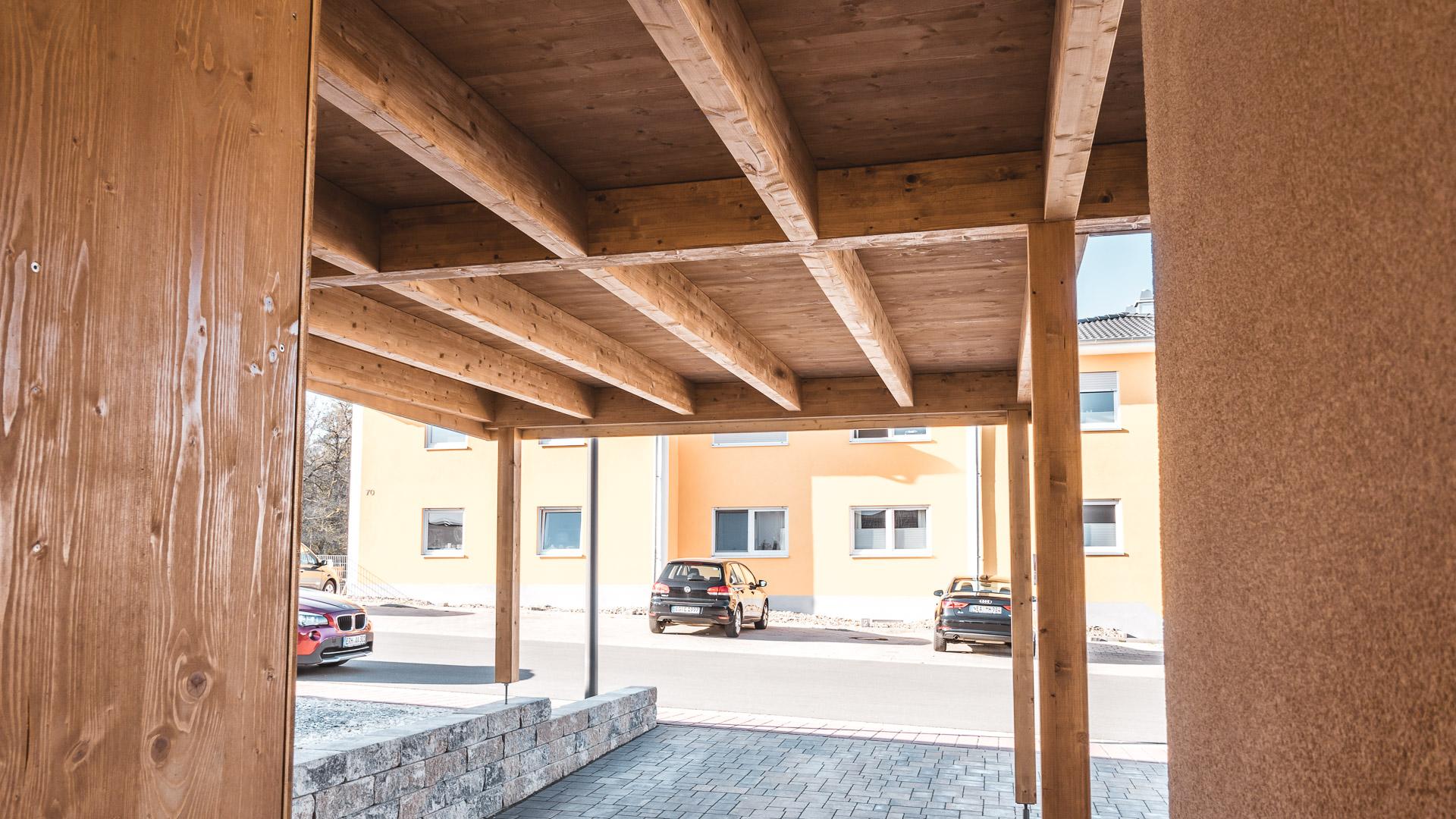 Holzbau Schorr Musterhaus Carport 2