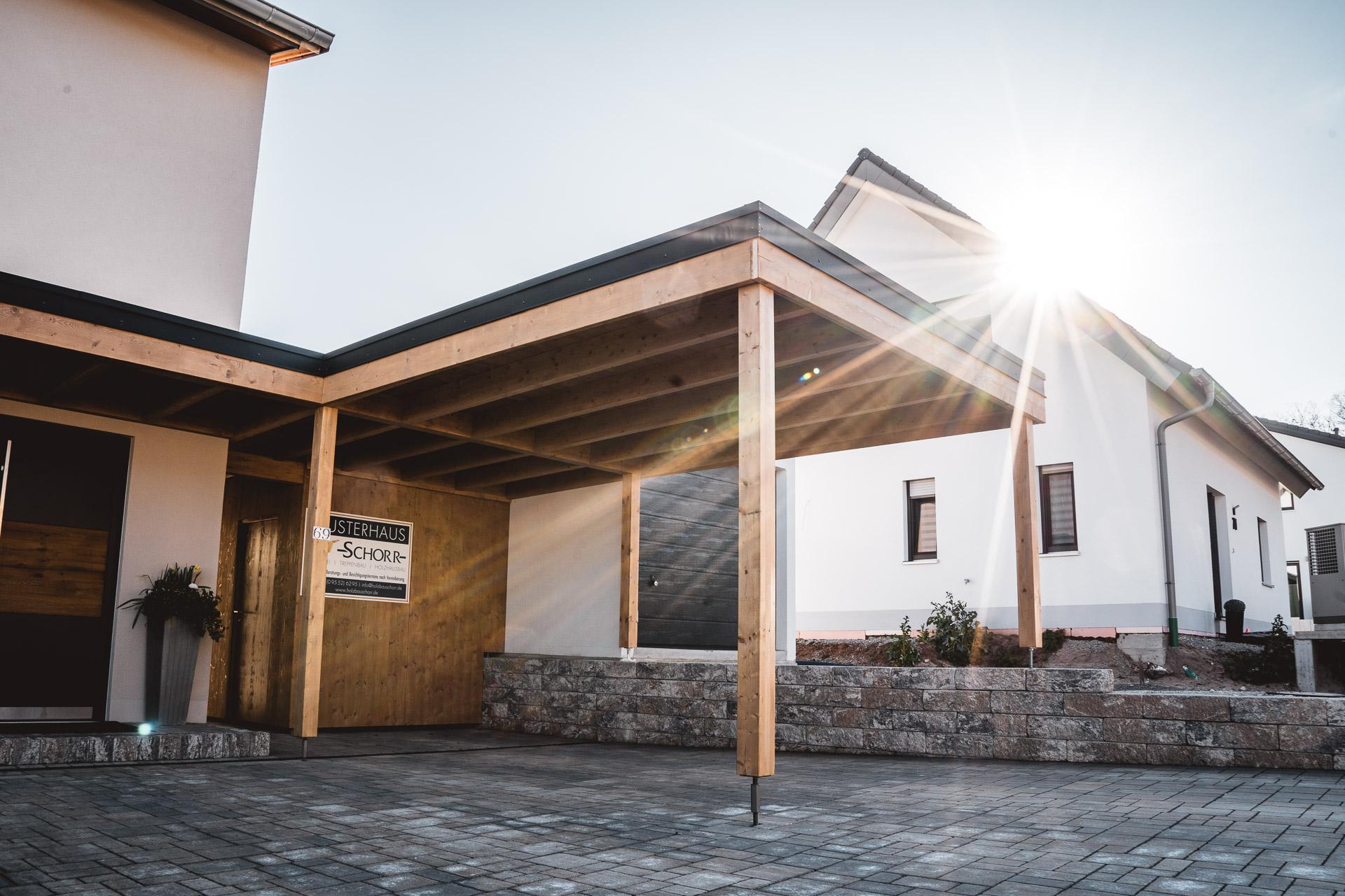 Holzbau Schorr Musterhaus Carport 6